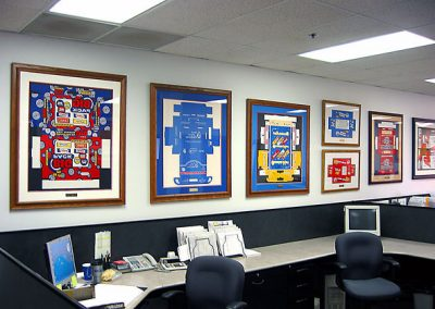 Artwork Framed to Decorate Office Space