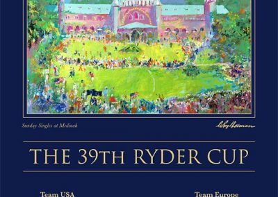 Poster Design for 39th Ryder Cup, Collaboration with Leroy Neiman