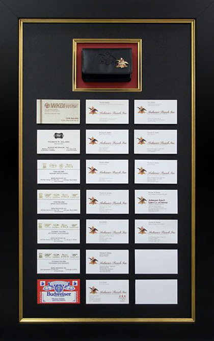 Frame Display For Business Cards