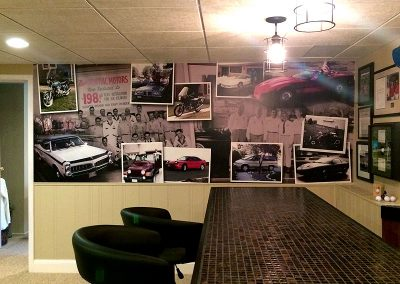Custom Car Mural - Basement Bar
