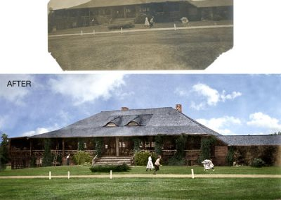 Skokie Country Club - Black and White Photo Colorized