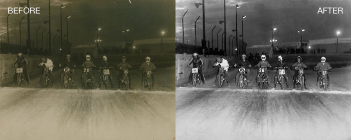 Photo Restoration - Image Brightened