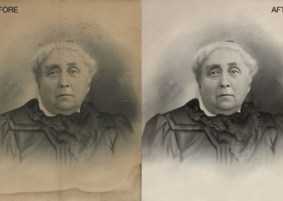 Antique Portrait - Restoration and Contrast Adjustment