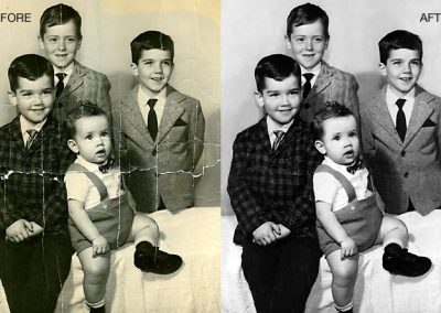 Family Photo Restoration - Restored to Black and White