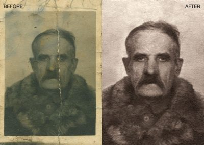 Photo Restored - Yellowing Removed, Contrast Adjustment