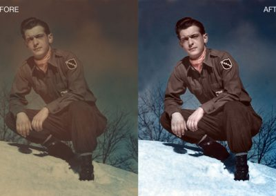 Old Military Photo Restoration - Color Enhanced