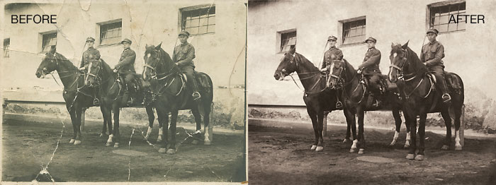 Photo Restoration - Yellowing Eliminated