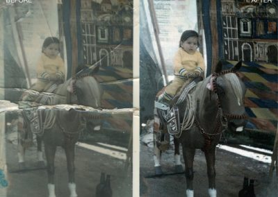 Photo Restoration - Rip Repaired, Color Corrected