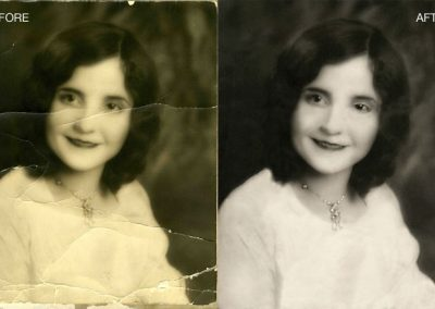 Photo Restoration - Color Correction, Cracks Repaired