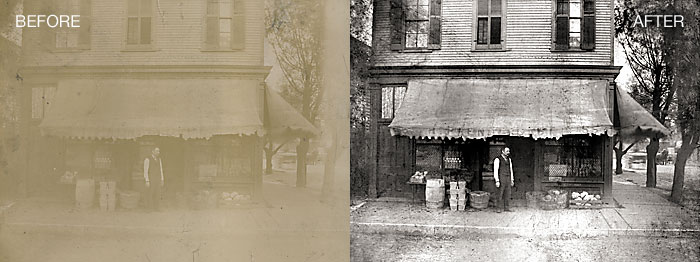 Photo Restoration - Contrast Adjusted