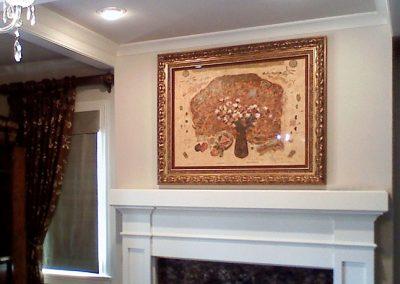 Framed Art Over Fireplace