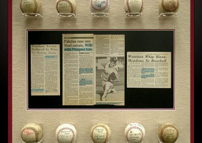 Shadowbox Frames with Baseballs
