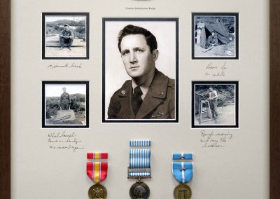 Military Collage Frame with Medals