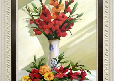 Floral Oil Painting Frame
