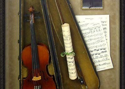 Framed Violin Display