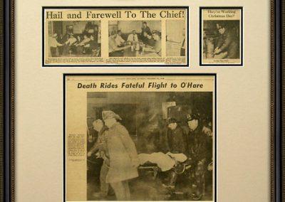 Framed Newspaper Display