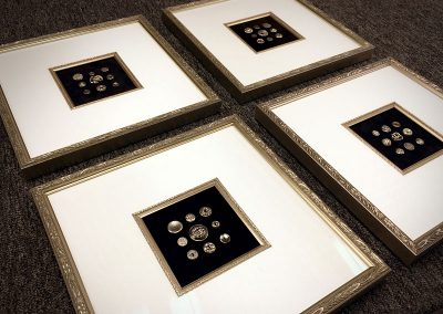 Framed Antique Button Displays
