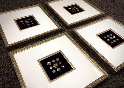 Framed Antique Button Displays