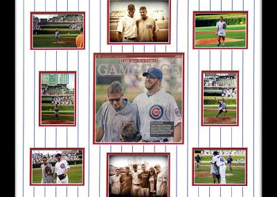 Framed Chicago Cubs Newspaper
