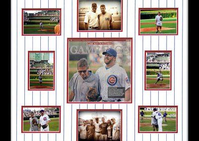 Framed Chicago Cubs Newspaper
