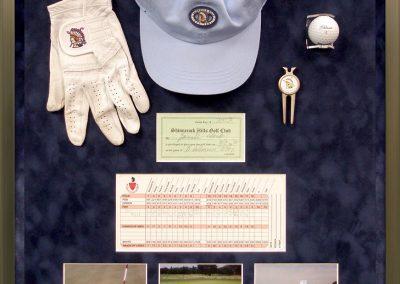 Custom Framed Golf Memorabilia