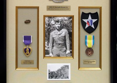 Frame for Military Medals