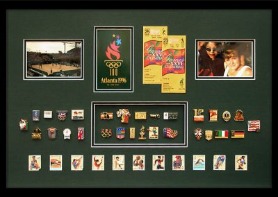 Frame for Olympic Pins and Memorabilia