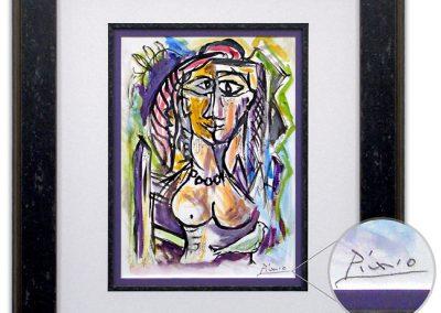 Custom Frame for Original Picasso