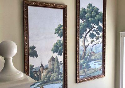Custom Framed Artwork for Staircase