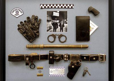 Shadowbox Frame for Police Memorabilia