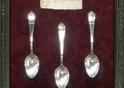 Display Frame for Antique Spoons