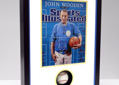 Frame for Baseball and Magazine Cover