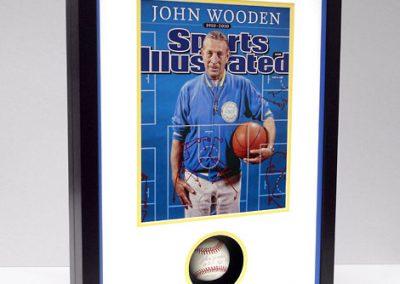 Frame for Baseball and Magazine Cover